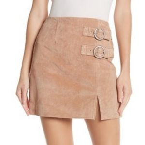 Blank nyc suede skirt with buckles